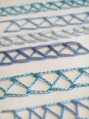 Hand Embroidery Stitch a Day: Double Chain Stitch